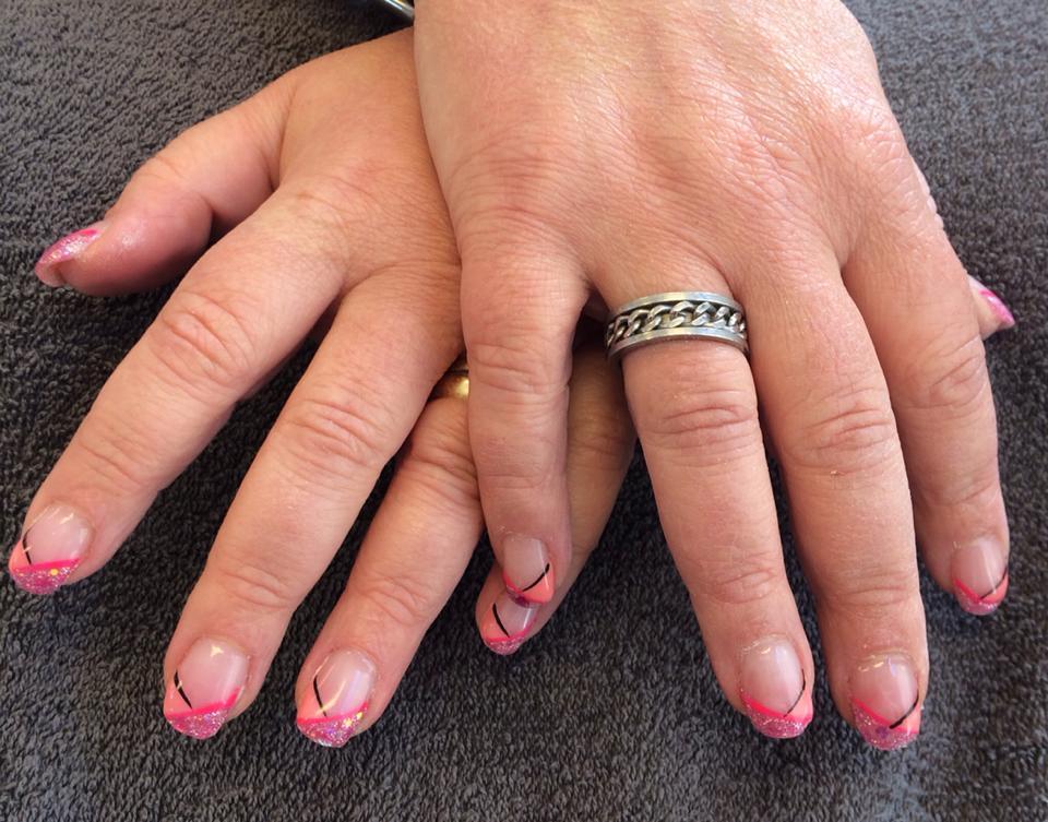 Cnd Acrylnagels met nailart