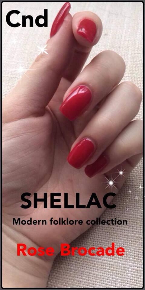 Cnd acrylnagels met Cnd Shellac